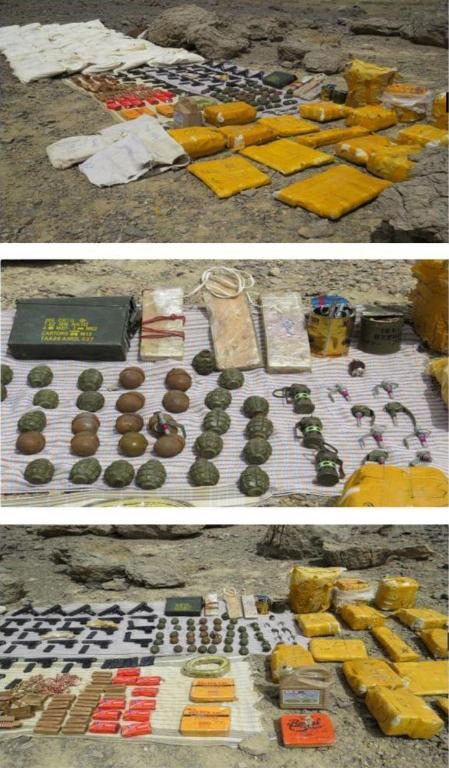 کشف محموله کلان مواد منفجره در مرزهای شرقی کشور+ تصاویر
