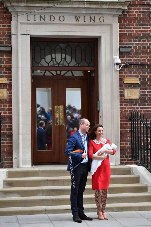 فرزند سوم کیت میدلتون Kate Middleton و پرنس ویلیام William - عکس شماره  2