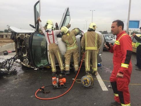 جزییات تصادف خطرناک در مسیر وزیر کار