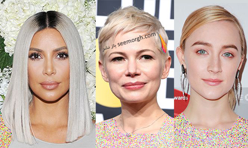 رنگ مو بلوند پلاتینه برای بهار 2018