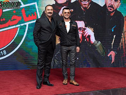 امین حیایی و مهران احمدی در جشن ساخت ایران 2