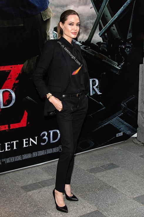 ست کردن کت و شلوار به سبک آنجلینا جولی Anjelina Jolie - مدل شماره 7