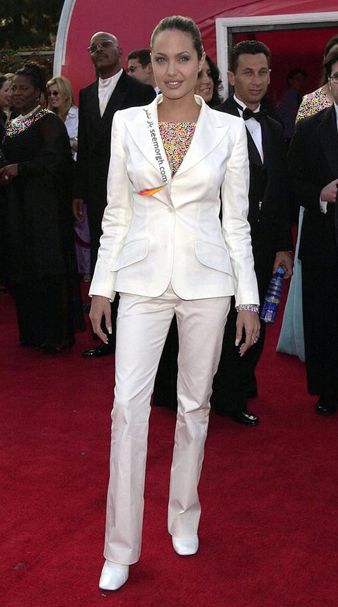 ست کردن کت و شلوار به سبک آنجلینا جولی Anjelina Jolie - مدل شماره 6