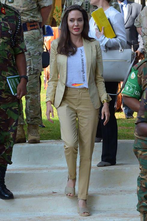 ست کردن کت و شلوار به سبک آنجلینا جولی Anjelina Jolie - مدل شماره 5