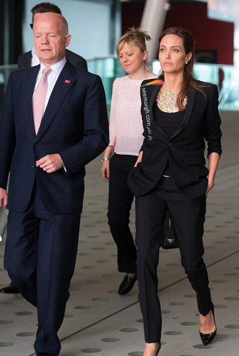ست کردن کت و شلوار به سبک آنجلینا جولی Anjelina Jolie - مدل شماره 2