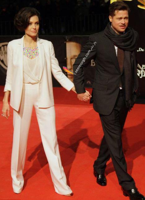 ست کردن کت و شلوار به سبک آنجلینا جولی Anjelina Jolie - مدل شماره 1