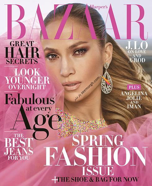 عکس های جدید جنیفر لوپز Jennifer Lopez روی مجله بازار HarpersBazaar - عکس شماره 6
