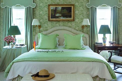 بهترین ترکیب رنگ اتاق خواب : دکوراسیون اتاق خواب به رنگ سبز