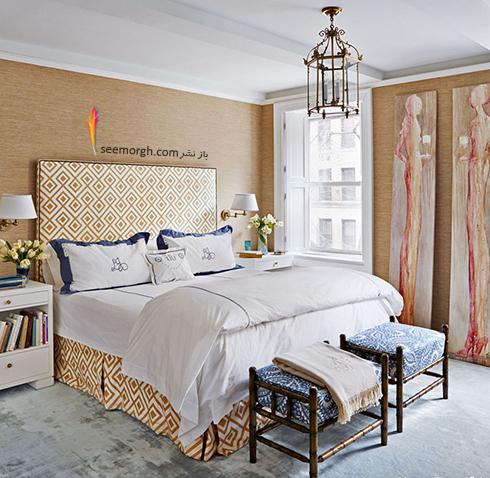 بهترین ترکیب رنگ اتاق خواب : دکوراسیون اتاق خواب به رنگ کاراملی