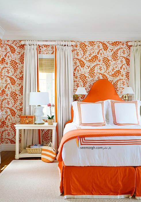 بهترین ترکیب رنگ اتاق خواب : دکوراسیون اتاق خواب به رنگ نارنجی