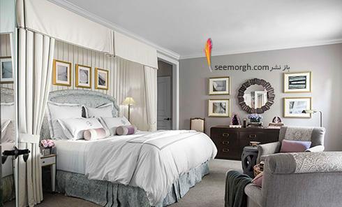 بهترین ترکیب رنگ اتاق خواب : دکوراسیون اتاق خواب به رنگ نقره ای، خاکستری