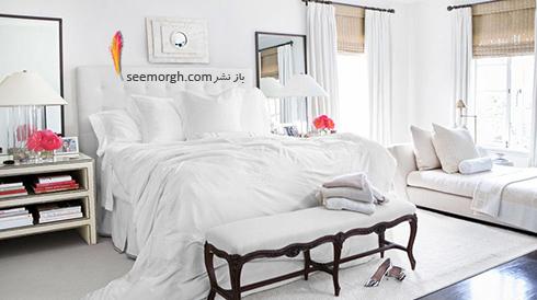 بدترین رنگ برای اتاق خواب زن و شوهر : دکوراسیون اتاق خواب به رنگ سفید