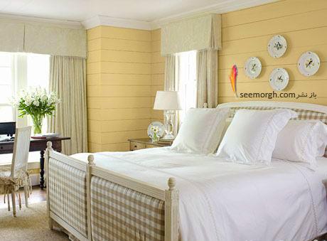 بهترین ترکیب رنگ اتاق خواب : دکوراسیون اتاق خواب به رنگ زرد