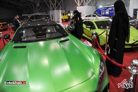 علاقه زنان عربستانی به خودرو های لوکس