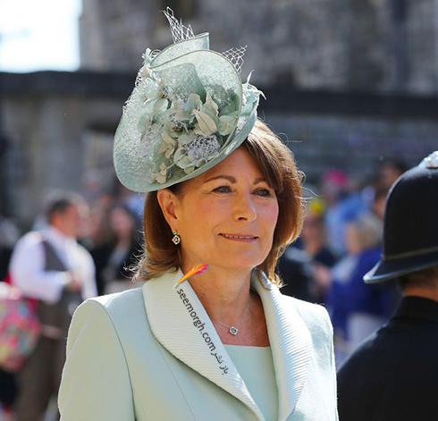 مدل کلاه کارلو میدلتون Carole Middleton در عروسی مگان مارکل Meghan Markle و پرنس هرس Prince Harry