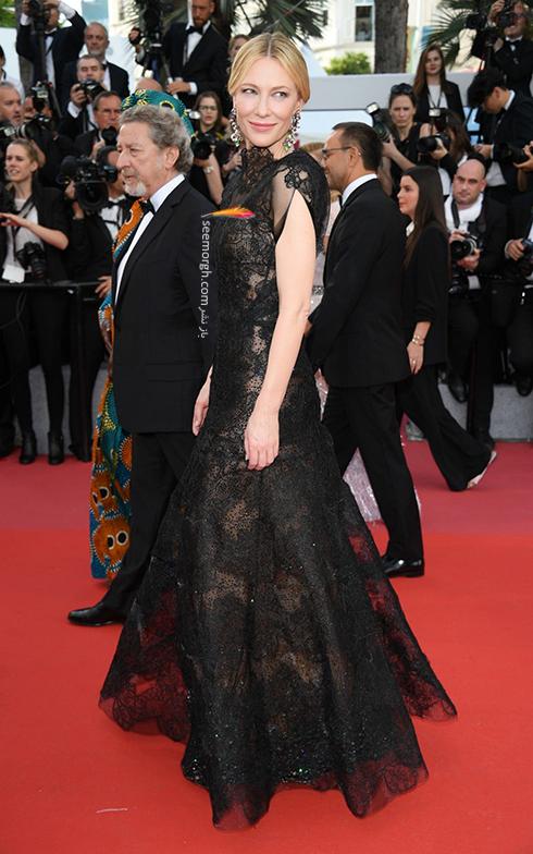 مدل لباس در افتتاحیه جشنواره کن 2018 Cannes - کیت بلانشت Cate Blanchett