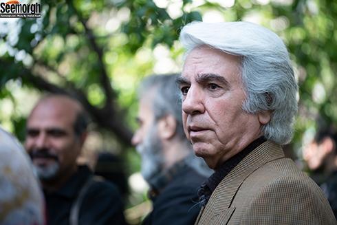 بهرام گودرزی در مراسم تشییع ناصر چشم آذر