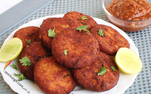 طرز تهیه شامی کباب مرغ برای افطار ماه رمضان