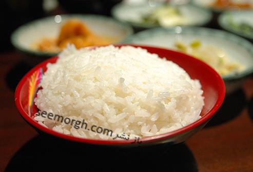 غذاهای خوشمزه و وسوسه برانگیز که باید از رژیم غذایی حذف شوند برنج سفید