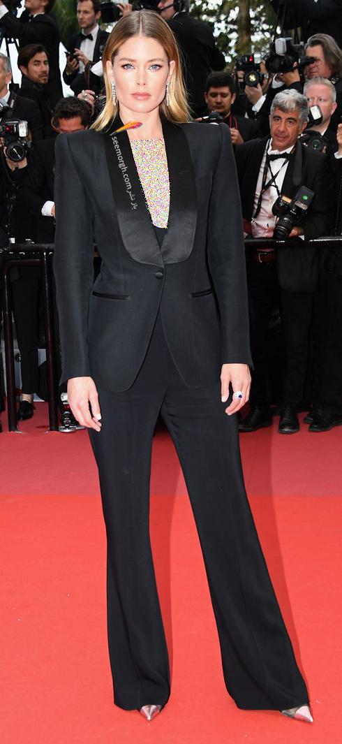 مدل لباس دوتزن کورس Doutzen Kroes  در نهمین روز جشنواره کن 2018 Cannes