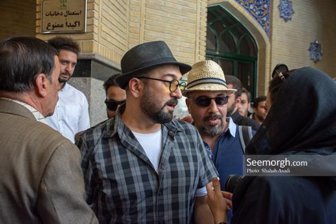 مجید صالحی و رضا عطاران در مراسم یادبود ناصر ملک مطیعی