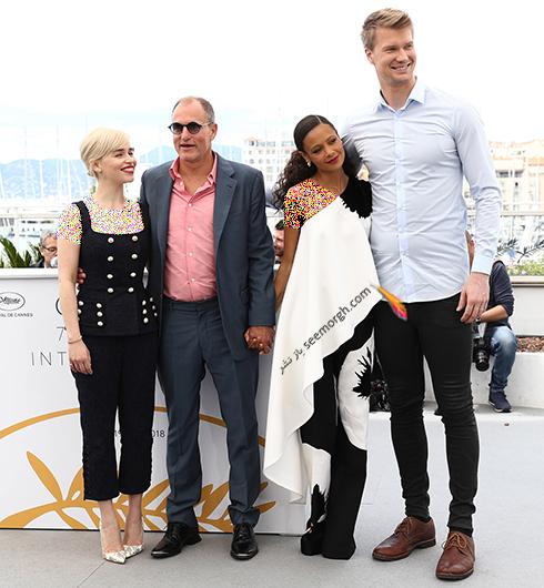 مدل لباس امیلیا کلارک Emilia Clarke و تندی نیوتن Thandie Newton در فتوکال هشتمین روز جشنواره کن 2018 Cannes