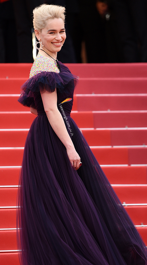 مدل لباس امیلیا کلارک Emilia Clarke در هشتمین روز جشنواره کن 2018 Cannes
