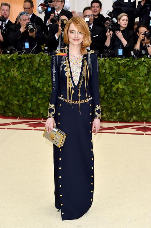 بدترین مدل لباس در مراسم مت گالا Met Gala 2018 - اما واتسون Emma Stone