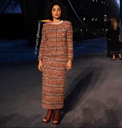 مدل لباس گلشیفته فراهانی Golshifte Farahani از برند شنل Chanel در فشن شو پاریس