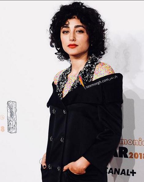 مدل لباس گلشیفته فراهانی Golshifte Farahani از برند شنل Chanel در در جشنواره سزار Cesar Film Festival 2018