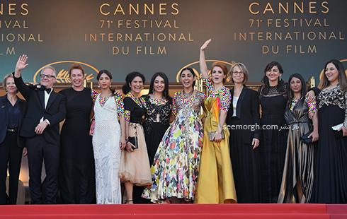 گروه سازنده فیلم دختران خورشید در کن 2018