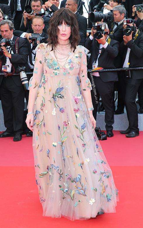 مدل لباس در افتتاحیه جشنواره کن 2018 Cannes - ایزابلا آدجانی Isabella Adjani