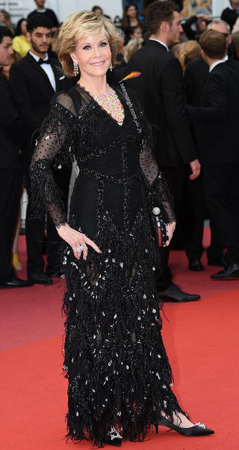 مدل لباس در ششمین روز جشنواره کن 2018 Cannes - جین فوندا Jane Fonda