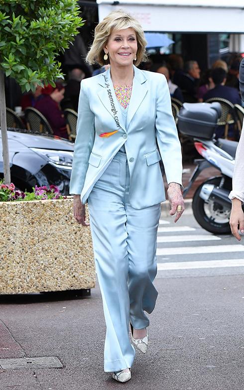 مدل لباس در هفتمین روز جشنواره کن 2018 Cannes - جین فوندا Jane Fonda