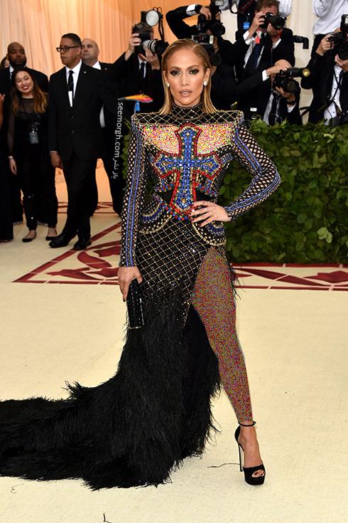 بدترین مدل لباس در مراسم مت گالا Met Gala 2018 - جنیفر لوپز Jennifer Lopez