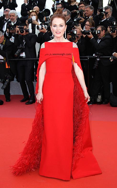 مدل لباس در افتتاحیه جشنواره کن 2018 Cannes - جولین مور Julianne Moore