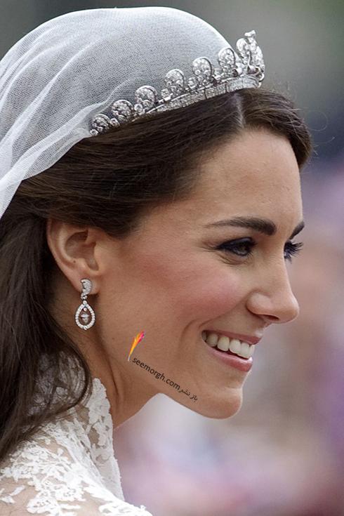 آرایش صورت کیت میدلتون Kate Middleton برای روز عروسی اش