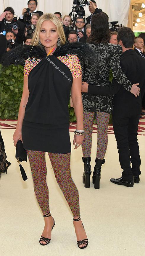 بدترین مدل لباس در مراسم مت گالا Met Gala 2018 - کیت ماوس Kate Moss