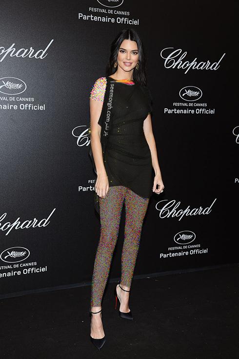 جشنواره کن 2018 Cannes، مدل لباس در شوی جواهرات برند شوپارد Chopard - کندال جنر Kendall Jenner