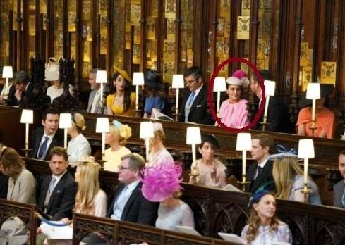 سلین خاورانی در مراسم ازدواج سلطنتی