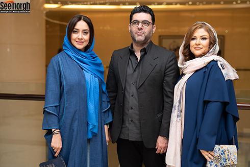 مصطفی کیایی و همسرش و بهاره کیان افشار در اکران خصوصی چهارراه استانبول