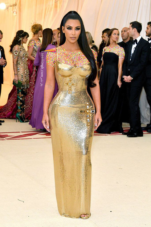 بدترین مدل لباس در مراسم مت گالا Met Gala 2018 - کیم کارداشیان Kim Kardashian
