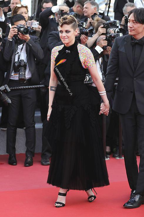 مدل لباس در افتتاحیه جشنواره کن 2018 Cannes - کریستین استوارت Kristen Stewart