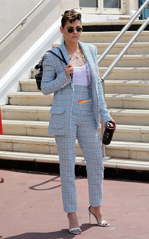 مدل لباس در مراسم قبل از جشنواره کن 2018 Cannes - کریستین استوارت Kristen Stewart