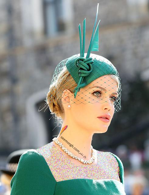مدل کلاه کیتی اسپنسر Kitty Spencer در عروسی مگان مارکل Meghan Markle و پرنس هرس Prince Harry
