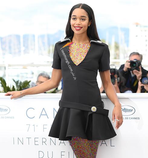 مدل لباس لارا هریر Laura Harrier در فتوکال هشتمین روز جشنواره کن 2018 Cannes