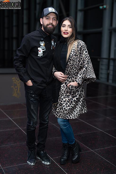 محسن افشانی و همسرش در جشن ساخت ایران 2