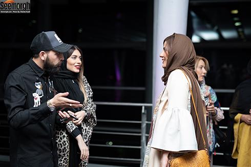 سارا بهرامی , محسن افشانی و همسرش در جشن ساخت ایران 2