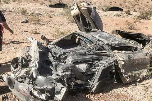 اتومبيل مکلارن 720S پس از تصادف