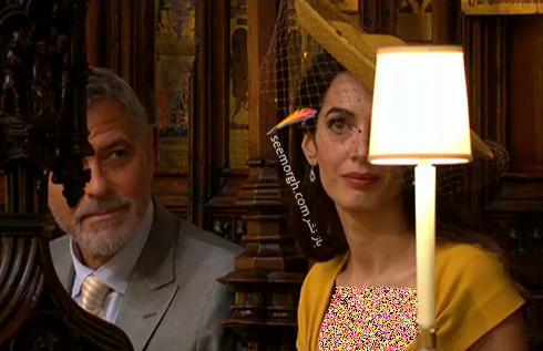 امل و جورج کلوني در مراسم عروسي مگان مارکل Megan Markle و پرنس هري Prince Harry
